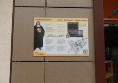 Gedenktafel am Standtort des ehemaligen Geburtshauses