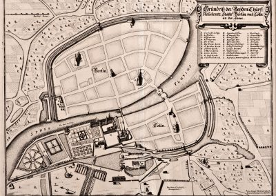 Grundriss der Beyden Churf Residentz Stätte Berlin und Cölln an der Spree