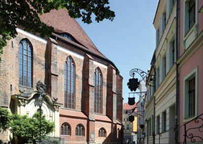 Chor der Nikolaikirche mit der Grabkapelle Schindler